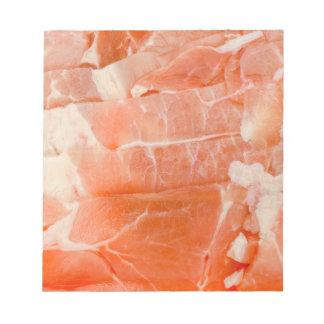 Juicy Pork Meat slices wrap texture Notepad