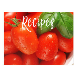 Juicy Red Tomato Recipe Card