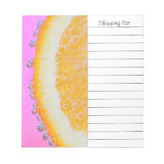 Juicy splash of orange notepads