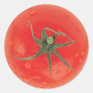 Juicy Tomato Classic Round Sticker