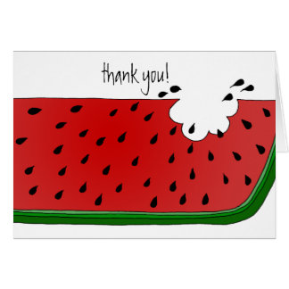Juicy Watermelon Card