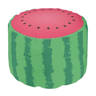 Juicy Watermelon Cute One In A Melon Funny Foodie Pouf