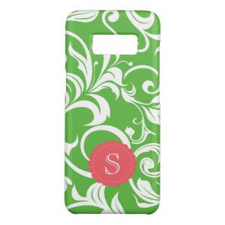 Juicy Watermelon Floral Wallpaper Swirl Monogram Case-Mate Samsung Galaxy S8 Case