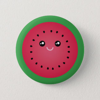 Juicy Watermelon Slice Cute Kawaii Funny Foodie 2 Inch Round Button