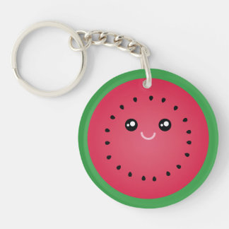 Juicy Watermelon Slice Cute Kawaii Funny Foodie Keychain