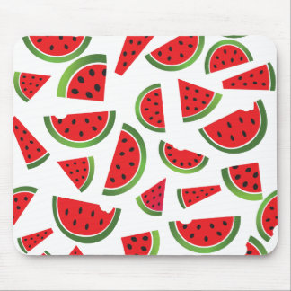 Juicy Watermelon Slices Fruit Pattern Mouse Pad