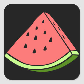 Juicy Watermelon Square Sticker