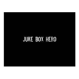juke box hero postcard