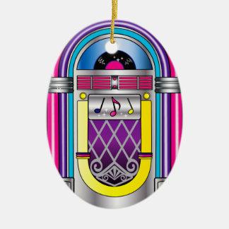 Jukebox Ceramic Ornament