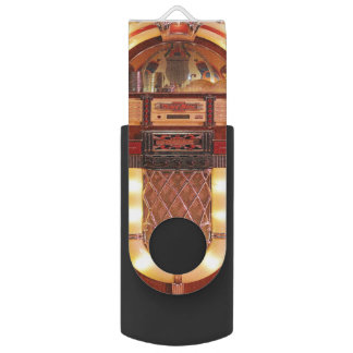 Jukebox Rock 'n' Roll Music Vintage USB USB Flash Drive