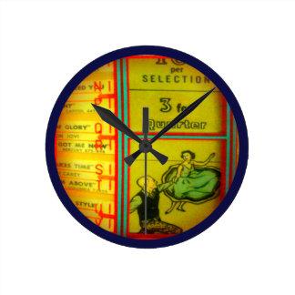 Jukebox Wall Clock! Round Clock