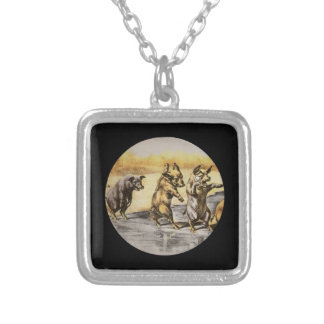 Jul Pigs on Ice Silver Plated Necklace