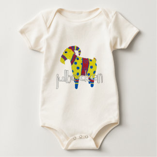 julbocken the Scandinavian Yule Goat Baby Bodysuit