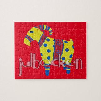julbocken the Scandinavian Yule Goat Jigsaw Puzzle