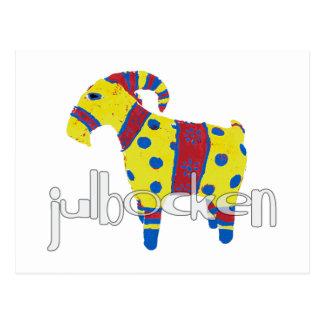 julbocken the Scandinavian Yule Goat Postcard