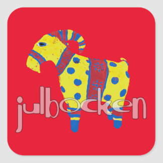 julbocken the Scandinavian Yule Goat Square Sticker