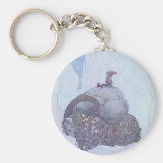Julebocken Scandinavian Folklore Keychain