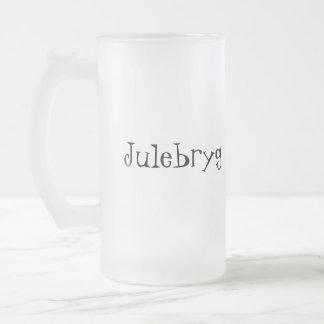 Julebryg Frosted Glass Beer Mug