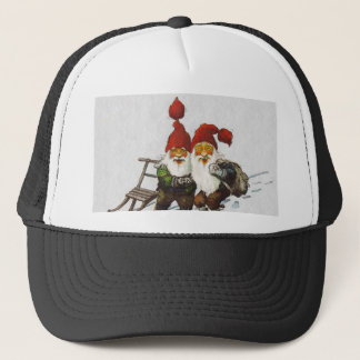 Julenisse Friends Sledding Trucker Hat