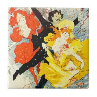 Jules Cheret Art Nouveau Tile