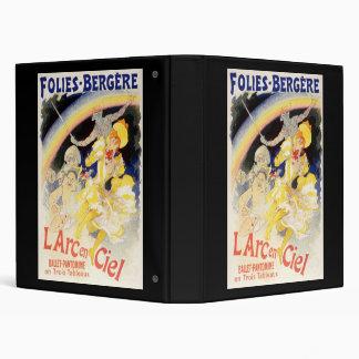 Jules Cheret Folies-Bergere L'Arc-en-Ciel Vinyl Binders
