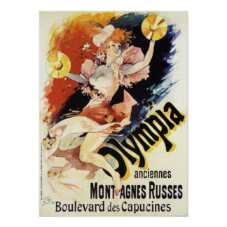 Jules Cheret Olympia Poster