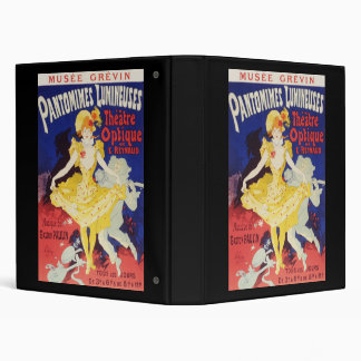 Jules Cheret Pantomimes Lumineuses 3 Ring Binders