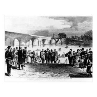 Jules Favre arriving at Pont de Sevres Postcards