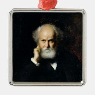 Jules Janssen Silver-Colored Square Ornament