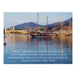 Jules Verne QUOTE about the ocean POSTER