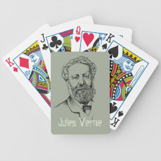 Jules Verne the steampunk writer Bicycle Playing Cards