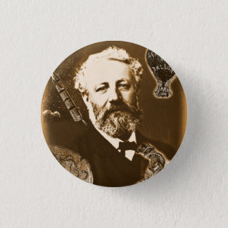 Jules Verne tributes 1 Inch Round Button