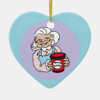 Julgransprydnad heart ceramic ornament