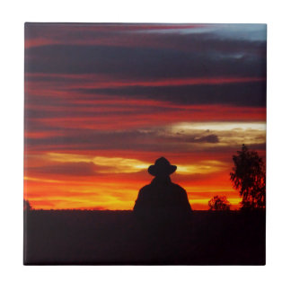 Julia Creek outback sunset square tile
