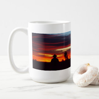 Julia Creek outback sunset white mug