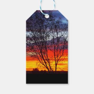 Julia Creek sunset silhouette gift tags