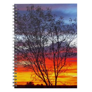 Julia Creek sunset silhouette notebook
