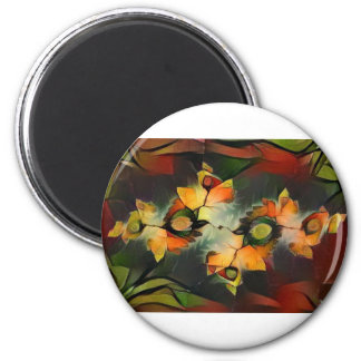 Julia Fractal Abstract Nature 2 Inch Round Magnet