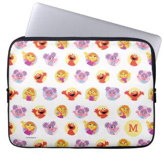 Julia & Sesame Street Friends Pattern Laptop Sleeve