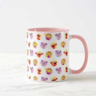 Julia & Sesame Street Friends Pattern Mug