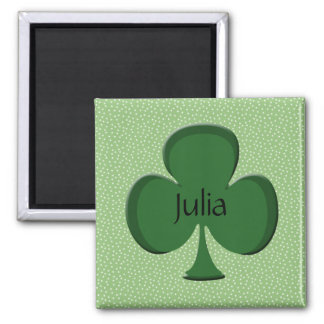 Julia Shamrock Name Magnet