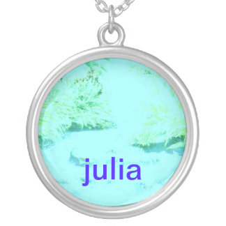 julia silver plated necklace