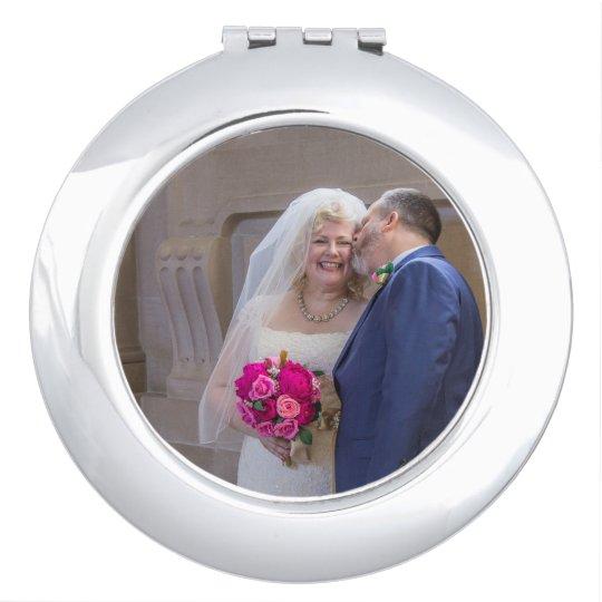 Julie + Brett's Wedding Compact Mirror