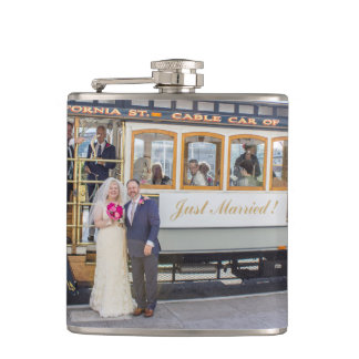 Julie + Brett's Wedding Flask