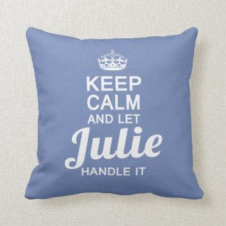 Julie handle it! throw pillow