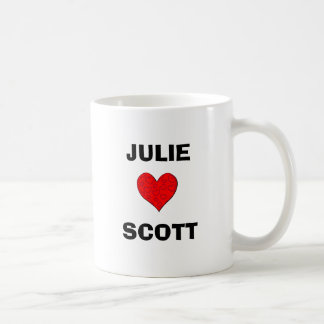 JULIE LOVES SCOTT COFFEE MUG