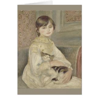 Julie Manet by Pierre-Auguste Renoir Card