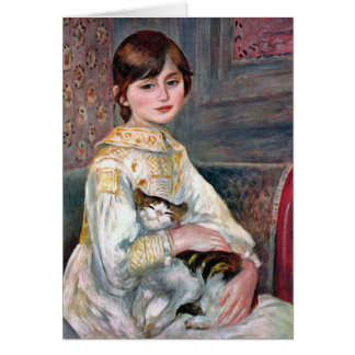 Julie Manet (Child With Cat) Renoir Card