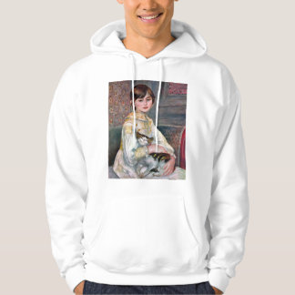 Julie Manet (Child With Cat) Renoir Hooded Sweatshirts