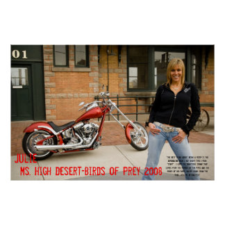 Julie, Ms. High Desert-BIrds of Prey 2008 Poster
